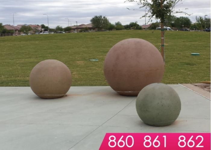 860 Series - Sphere Bollards
