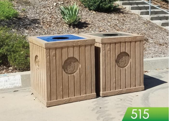 515 - Timber Trash Receptacle