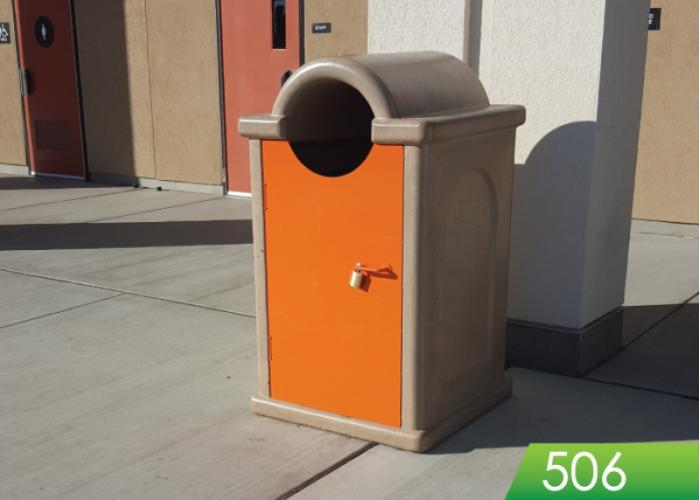 506 - Round Top Receptacle