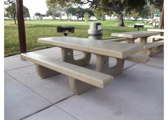 111 - 8' Picnic Table w/Relief Edges