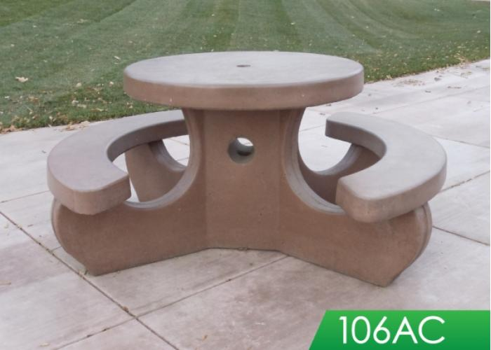 Outdoor creations picnic tablesround tables round picnic tables watchthetrailerfo