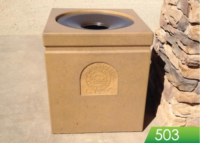 503 - Square Receptacle