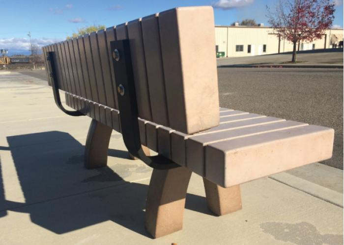 422 - Backed bench w/lines, 72""